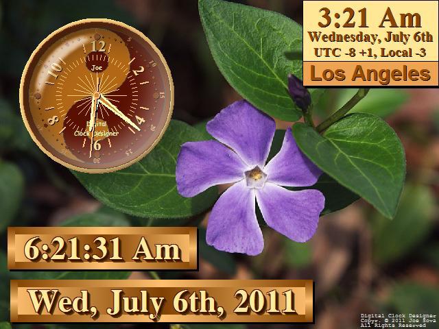 Alarm Clock Free ����� ����� orange-digital-analog-clock-with-violet-w-s.jpg