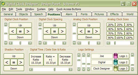 Full Screen Digital Clock Software for PC Desktop Alarm